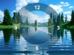 Lake Clock - Free screensaver